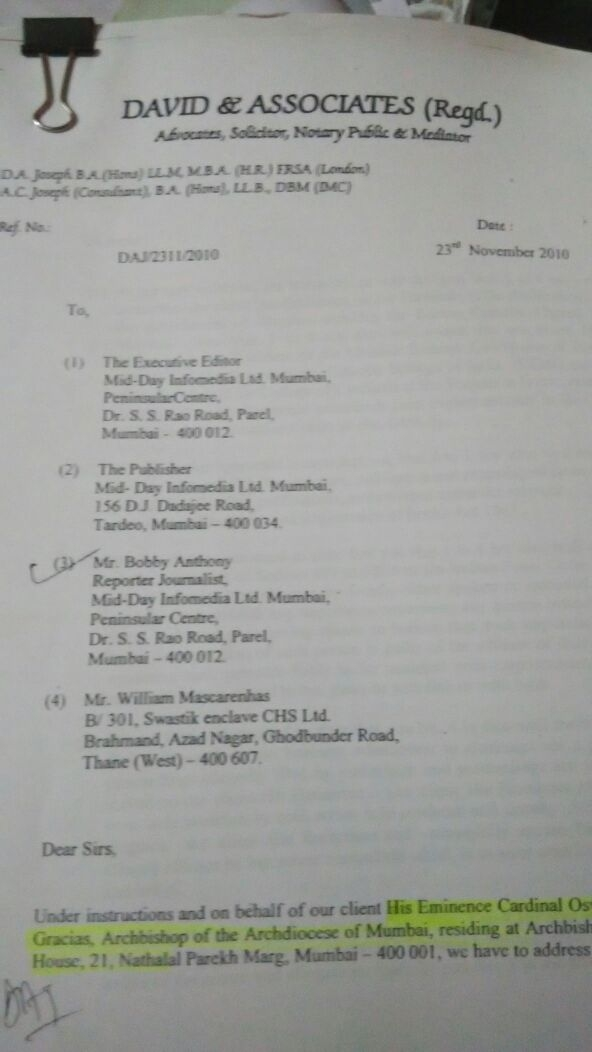davids letter 1